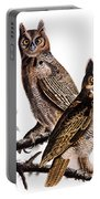 Audubon: Owl, (1827-1838) Portable Battery Charger
