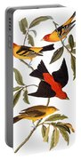 Audubon: Tanager, 1827 Portable Battery Charger