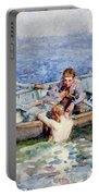 August Blue Portable Battery Charger by Henry Scott Tuke