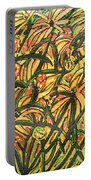 August Floral Portable Battery Charger