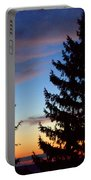 August Pine Clouds Portable Battery Charger