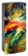 Aura Of Love - Palette Knife Oil Painting On Canvas By Leonid Afremov Portable Battery Charger