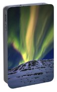 Aurora Borealis Over Toviktinden Portable Battery Charger
