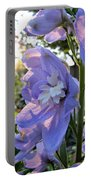 Aurora Light Purple Delphinium And Sunset No. 2 Portable Battery Charger