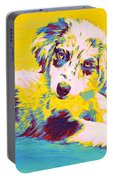Aussie Puppy-yellow Portable Battery Charger