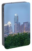 Austin Texas Building Skyline After The The Lights Are On Portable Battery Charger