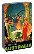 Australia, Romantic Night, Dance And Music, Hotel Terrace Portable Battery Charger