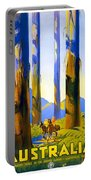 Australia - The Tallest Trees In The British Empire - Marysville, Victoria - Retro Travel Poster Portable Battery Charger