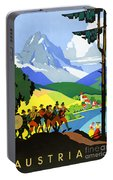 Austria Vintage Travel Poster Portable Battery Charger