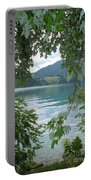 Austrian Lake Through The Trees Portable Battery Charger