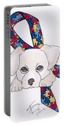 Autism Awareness And Puppy Love Portable Battery Charger