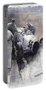 Auto Union B Type 1935 Italian Gp Monza B Rosermeyer Portable Battery Charger by Yuriy Shevchuk