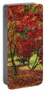 Autum Red Woodlands Painting Portable Battery Charger