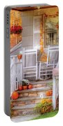Autumn - House - My Aunts Porch Portable Battery Charger by Mike Savad