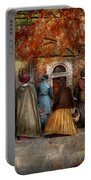 Autumn - People - A Walk Downtown  Portable Battery Charger
