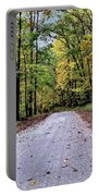 Autumn Along A Country Road 1 Portable Battery Charger