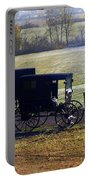 Autumn Amish Horse Buggy Portable Battery Charger
