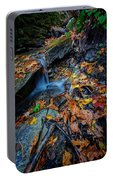 Autumn At A Mountain Stream Portable Battery Charger