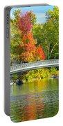 Autumn At Bow Bridge Central Park Portable Battery Charger