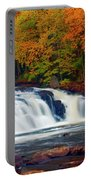 Autumn At Buttermilk Falls Portable Battery Charger