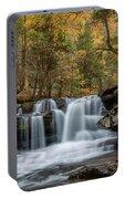 Autumn At Dunloup Creek Falls Portable Battery Charger