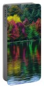 Autumn At Green Lake Seattle Portable Battery Charger