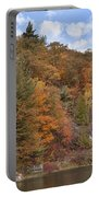 Autumn At Pink Lake Portable Battery Charger
