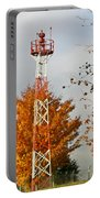 Autumn At The Airport Light Tower Portable Battery Charger