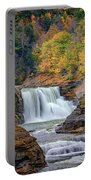 Autumn At The Lower Falls Portable Battery Charger