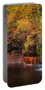 Autumn At Wolf Creek Falls Portable Battery Charger