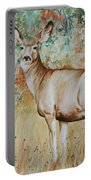 Autumn Beauty- Mule Deer Doe  Portable Battery Charger