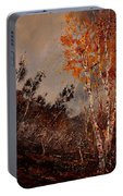 Autumn Birches  Portable Battery Charger