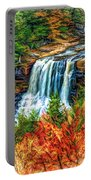 Autumn Blackwater Falls - Paint 3 Portable Battery Charger