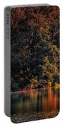 Autumn Boating At Argyle Lake Portable Battery Charger