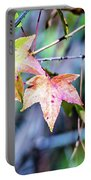 Autumn Color Changing Leaves On A Tree Branch Portable Battery Charger