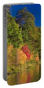 Autumn Color Trees Along Beauty Lake Portable Battery Charger