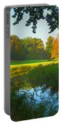 Autumn Colors In A Park Portable Battery Charger