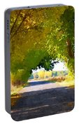 Autumn Country Lane Portable Battery Charger