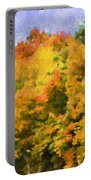 Autumn Country On A Hillside II - Digital Paint Portable Battery Charger