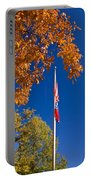 Autumn Flag Portable Battery Charger