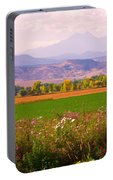 Autumn Flowers At Harvest Time Portable Battery Charger