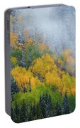 Autumn Fog And Snow Portable Battery Charger