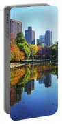Autumn Foliage On The Boston Common Frog Pond Portable Battery Charger