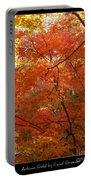 Autumn Gold Poster Portable Battery Charger