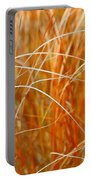 Autumn Grass Abstract Portable Battery Charger