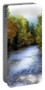Autumn Harvest Along The River Portable Battery Charger