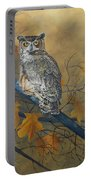 Autumn Highlights - Great Horned Owl Portable Battery Charger