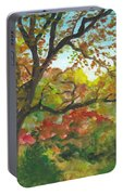 Autumn In Mccrillis Gardens Portable Battery Charger