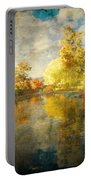 Autumn In The Pond Portable Battery Charger