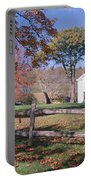 Autumn In Village Of Peacham, Vermont Portable Battery Charger